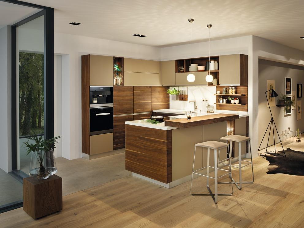 TEAM 7  Linee keuken in notelaar