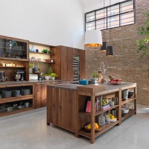 TEAM 7 Loft keuken in wilde notelaar