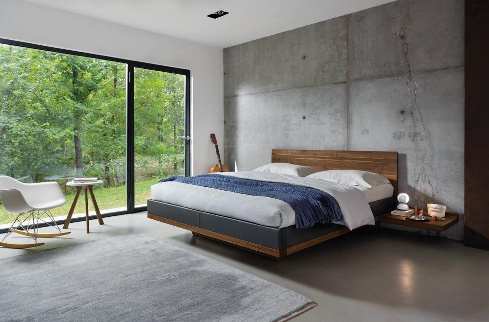 Slaapkamers interior gent - Bett minimalistisch ...