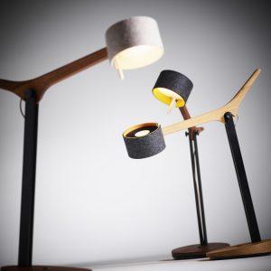 Frits tafel- of bureaulamp - eik of notelaar