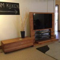 Tv-meubel en ladekastje kerselaar