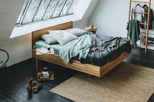 Interior Gent, een ruimte keuze aan ecologische bedden. Veel modellen en houtsoorten van Team 7