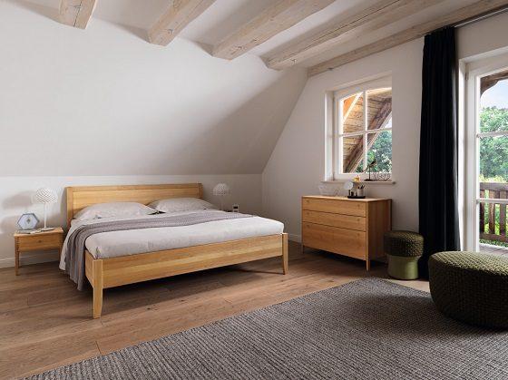 Interior Gent, grote showroom met ecologische bedden van Team 7. Vele modellen en houtsoorten!